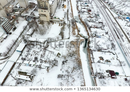 Bird's eye view of granaries and elevators Stock photo © vlad_star