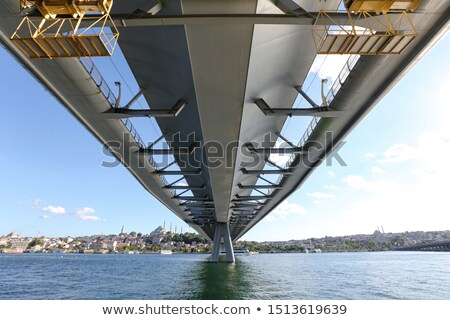 Golden Horn metro bridge Stock photo © Givaga