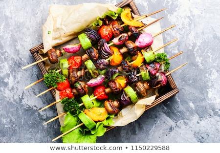 Colorful veggie skewers Stock photo © BarbaraNeveu