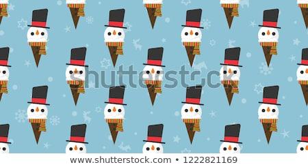 sorvete · chocolate · baunilha · gelo · vetor · conjunto - foto stock © loopall