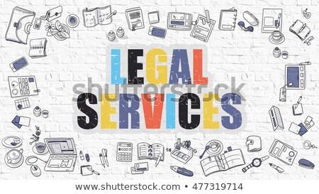 Jurídica servicios blanco moderna línea estilo Foto stock © tashatuvango