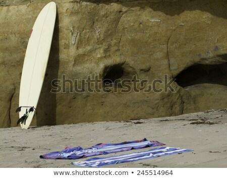 Surfer leaning on surfboard in sea Stock photo © wavebreak_media