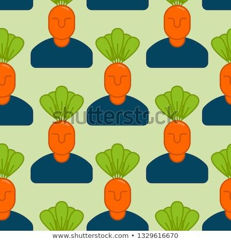Ufficio verdura giardino manager carote Foto d'archivio © popaukropa