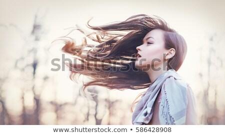 肖像 美しい 若い女性 風の強い 髪 ストックフォト © julenochek