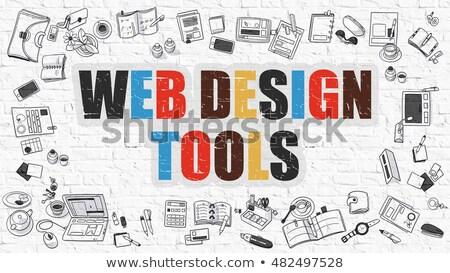 comercialización · herramientas · 3D · prestados · ilustración · rojo - foto stock © tashatuvango