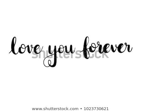 Amor para sempre máquina de escrever tiro Foto stock © devon