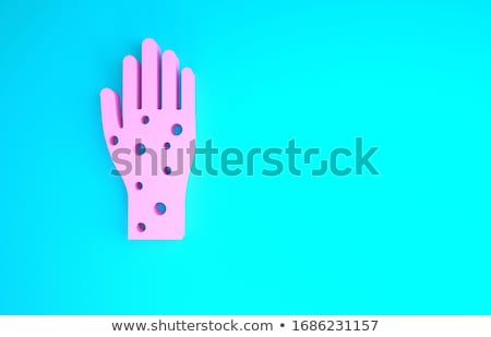itch medical concept on blue background 3d illustration stock photo © tashatuvango