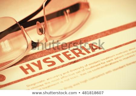 Hysterie diagnose medische 3d render afgedrukt wazig Stockfoto © tashatuvango