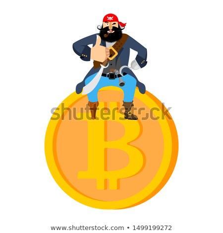 Bitcoin pirata web moneda ilegal virtual Foto stock © popaukropa