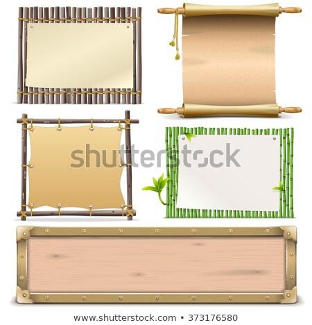 бамбук · кадр · изолированный · белый · древесины · природы - Сток-фото © bluering