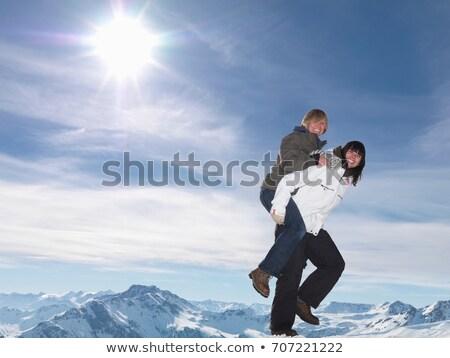 hideg · pár · áll · szemtől · szembe · megérint · férfi - stock fotó © is2
