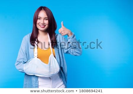 Plaster on female thumb Stock photo © CsDeli