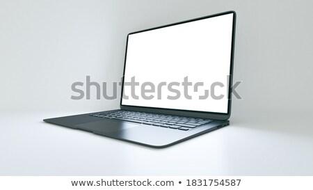 Photo stock: Affaires · cas · portable · écran · 3D