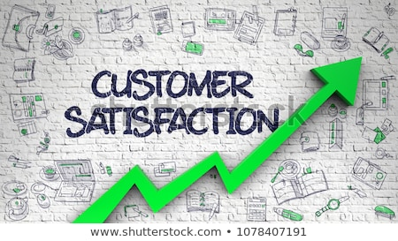 customer loyalty drawn on white wall 3d stock photo © tashatuvango