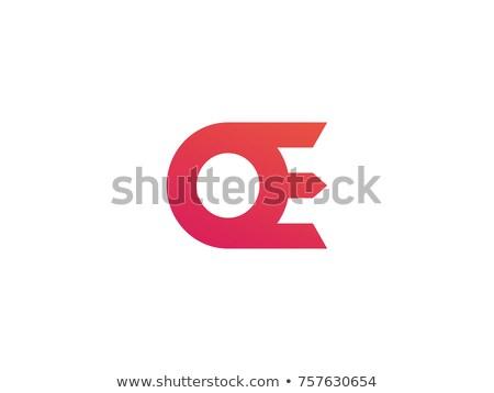 Levél logo kreatív appok sablon papír Stock fotó © taufik_al_amin
