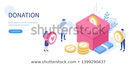 Charity flat isometric vector concept Stock photo © TarikVision