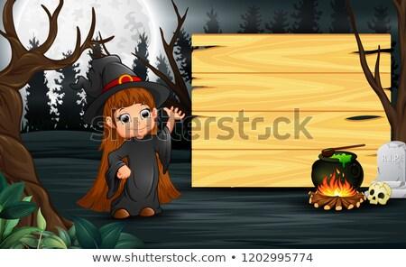 illustratie · hoed · exemplaar · ruimte · zwarte · kleur - stockfoto © lenm