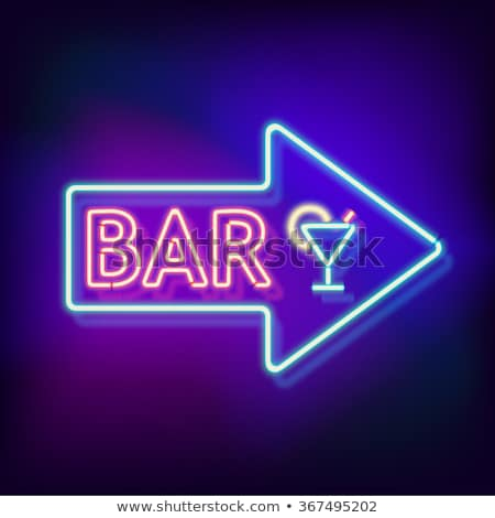 Street lamp and bar sign Stock photo © simply