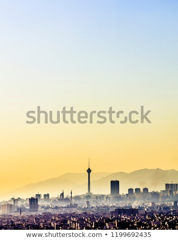 Tehran skyline at sunset, Iran Stock photo © joyr