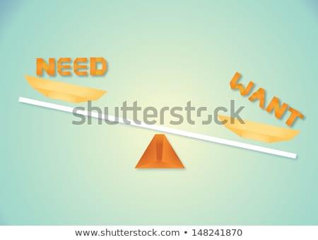Mérleg illusztráció művészet levelek grafika ötlet Stock fotó © lenm