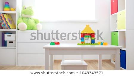 Prateleira de livros brinquedos branco ilustração livro globo Foto stock © bluering