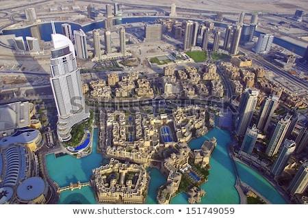 uae aerial view from the height of burj khalifa stock photo © dashapetrenko