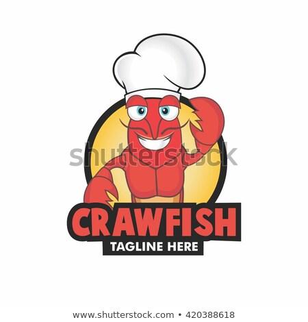 Crawfish Chef Running Stock photo © cthoman