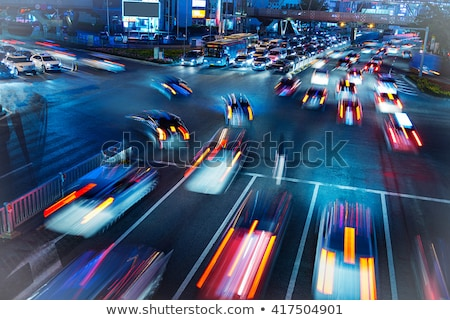 blurred traffic on a busy highway stock photo © monkey_business