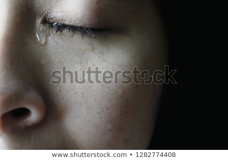 close up of an afraid woman stock photo © andreypopov