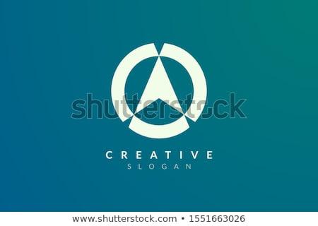 Pijl cirkel target klikken vector icon Stockfoto © blaskorizov