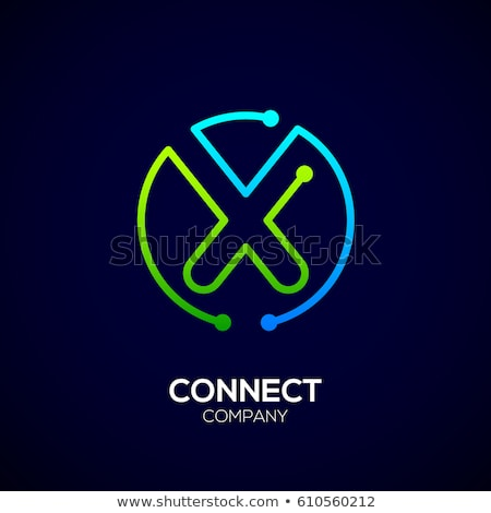 blue green letter x logotype logo vector Stock photo © blaskorizov