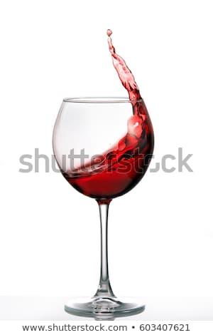 赤ワイン 白 実例 ワイン ガラス 背景 ストックフォト © bluering