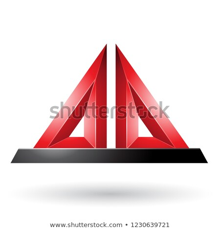 Red 3d Pyramidical Embossed Shape Vector Illustration Stock photo © cidepix