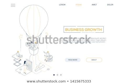 Stockfoto: Business · onderzoek · moderne · isometrische · vector · web
