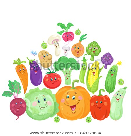 Pepper Pods Isolated Vector Icon in Cartoon Style Stock photo © robuart