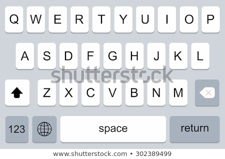Keypad for on smartphone. Keyboard template in smartphone. In black and white style. Keypad for a to Stock photo © AisberG