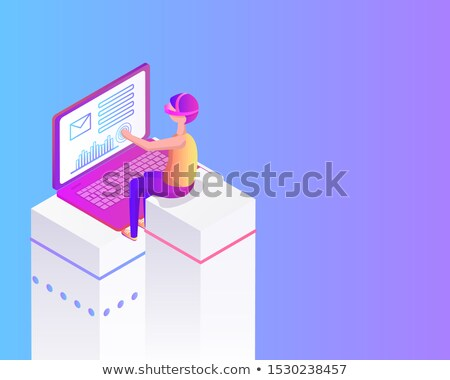 Virtual Reality Cartoon Advertising Poster Sample Stock photo © robuart