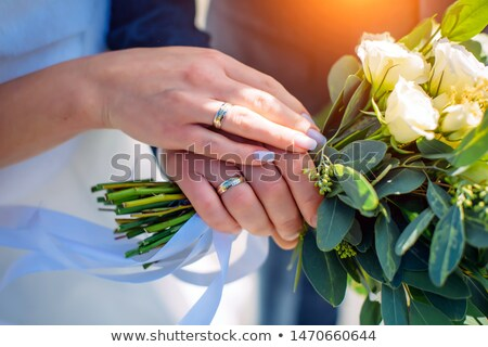 Сток-фото: , · держась · за · руки · мнение · свадьба · пару