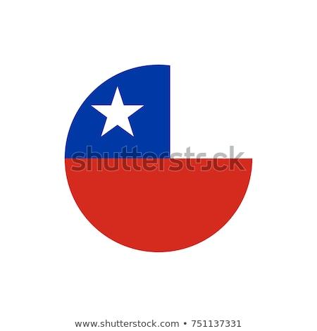Chile zászló ikon illusztráció háttér fehér Stock fotó © colematt