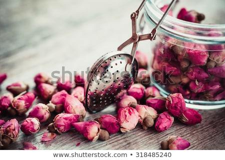 Kuru çay gül sevgililer günü hediye kalp Stok fotoğraf © grafvision