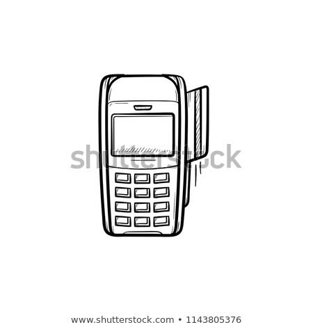 POS terminal hand drawn outline doodle icon. Stock photo © RAStudio
