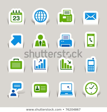 Office Paper Increasing Arrow Icons Set Vector Stock photo © robuart