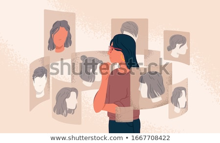 hair styling style change at hairdressers vector stock photo © robuart