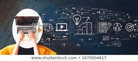 реклама маркетинга связи бизнеса аналитика стратегия Сток-фото © cifotart