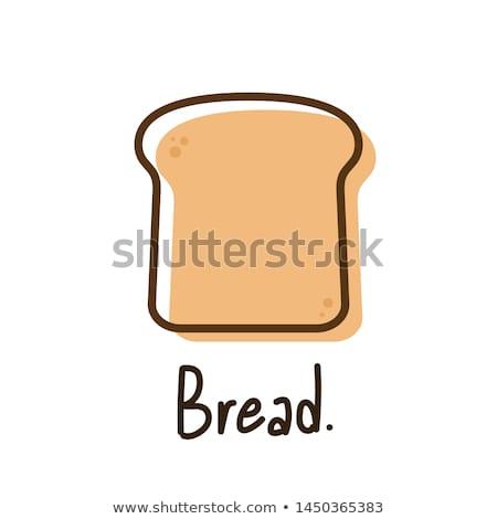 Darab kenyér izolált étel háttér szín Stock fotó © MaryValery