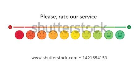 обратная связь смайлик масштаба линия дизайна положительный Сток-фото © kali