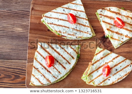 Mozzarella and guacamole quesadillas Stock photo © Alex9500