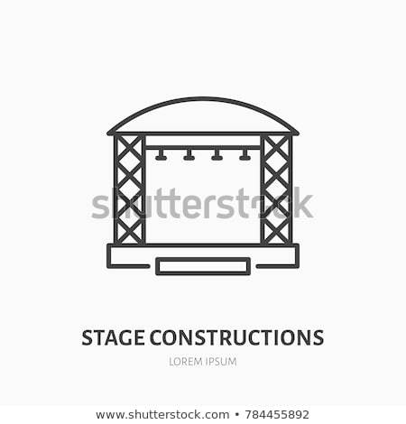 Stage projector icon Stock photo © angelp