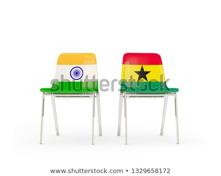 Two chairs with flags of India and ghana Stock photo © MikhailMishchenko