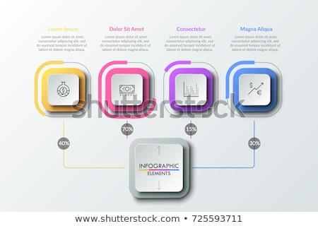 インフォグラフィック フローチャート パーセンテージ 情報 ベクトル グラフ ストックフォト © robuart